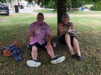 Ben's parents enjoying the BBQ