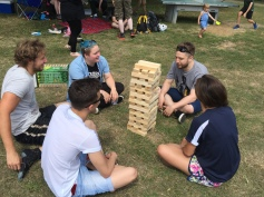 Giant Jenga with Chud, Kali, Mike, Rosie and Liam