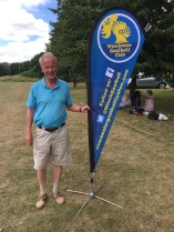 David from Rotary with our flag