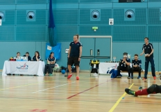 Chris refereeing at Elite