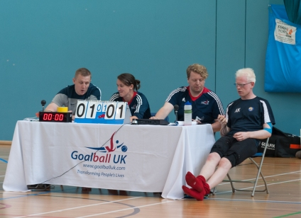 Referee's table at Goalfix Cup 2017