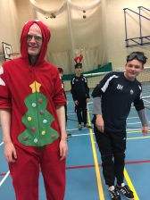 Adam and Ben in christmas spirits