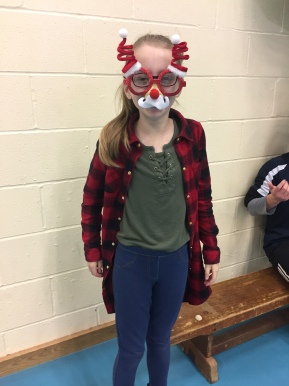 Chaeli in Christmas spirits