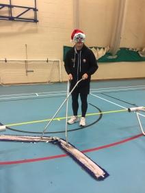 Christmas Tom sweeping